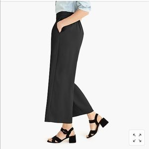 NWT J.Crew Wide Leg Cropped Pants in 365 Crepe